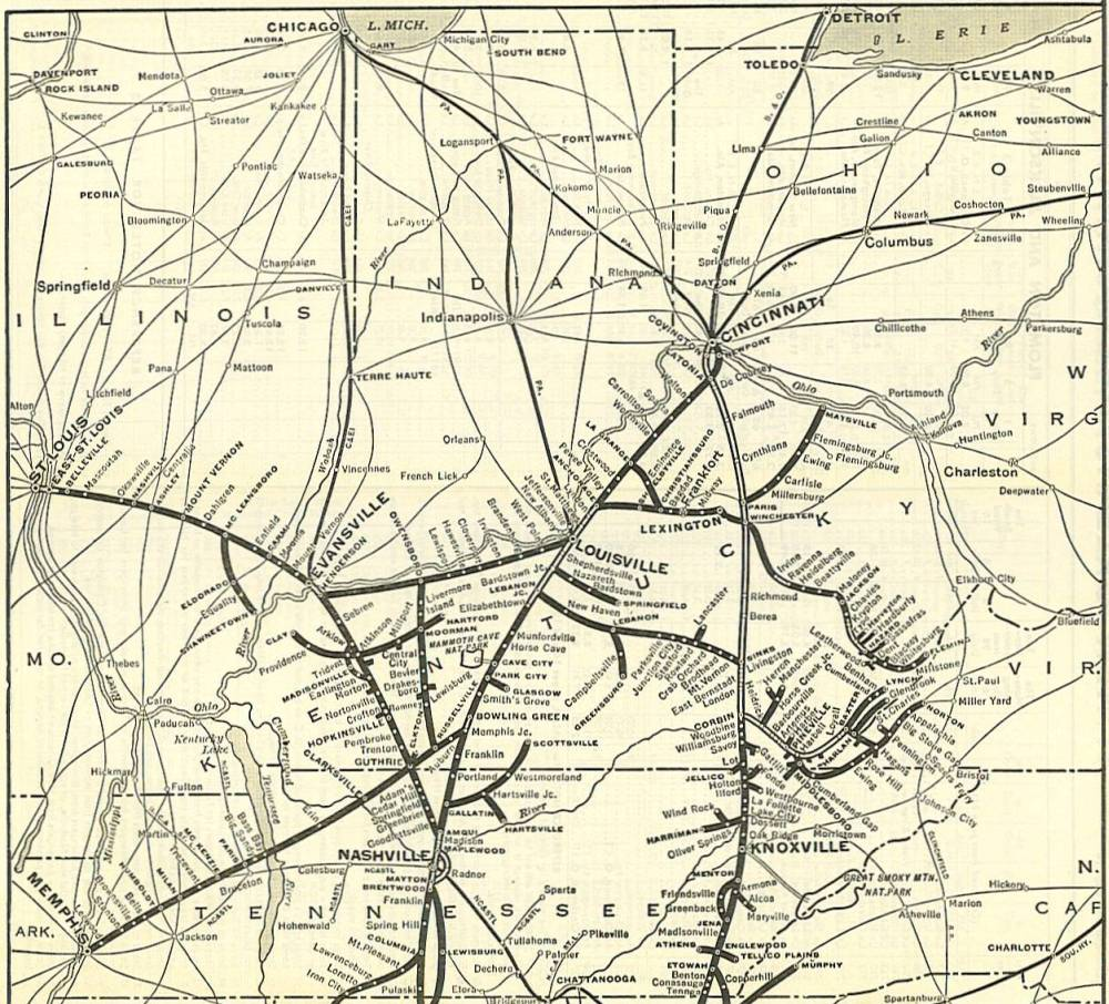 1954 LampN Railroad System Map